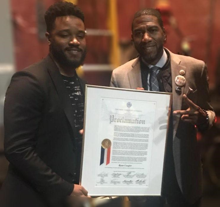 Williams Honors Black Panther's Movie Director