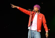 Rapper Wiz Khalifa in action