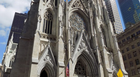 ST PATRICK'S CATHEDRAL, NY, DESECRATED BY ANGRY PROTESTORS