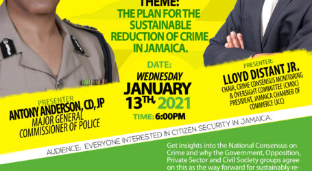 Diaspora Citizen Safety Townhall featuring  Jamaica's Police Commissioner Antony Anderson  presented by the Crime Consensus Monitoring & Oversight Committee (CMOC)  and the Jamaica Diaspora Citizen Security and Safety Taskforce (JDCSAST)